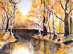 See im Herbstwald